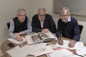 Kurt Lundkvist, Lars Falk och Claes Bergkvist har samlat en mängd exempel och fakta om den kreativa revolutionen på 60-talet och framåt. Vad som låg bakom, hur det gick till och vilka effekter den gav. Lärdo-mar att dra nytta av fortfa-rande. Foto: Åke Hedström